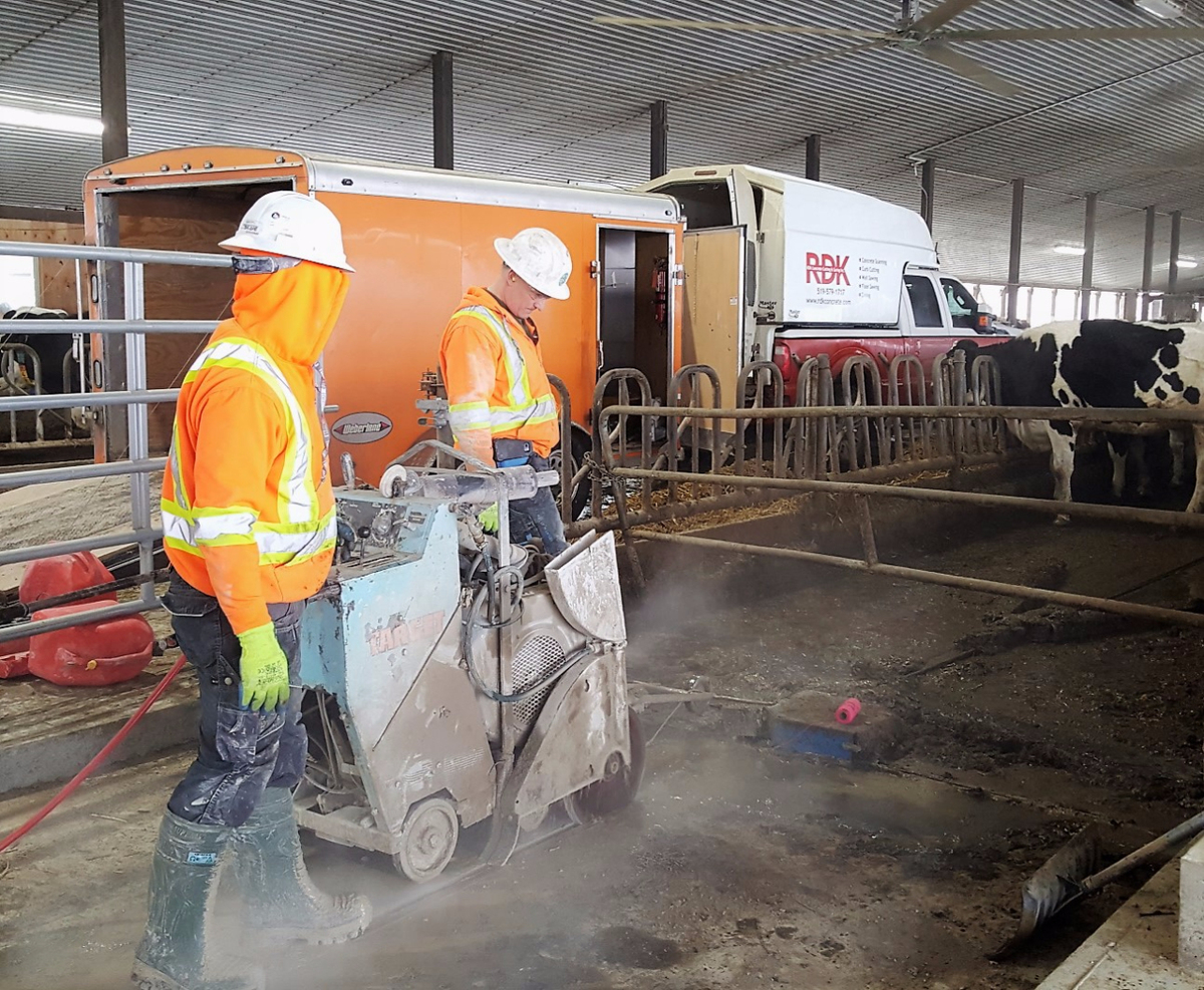 Barn Grooving Concrete Cutting Coring Kitchener Waterloo